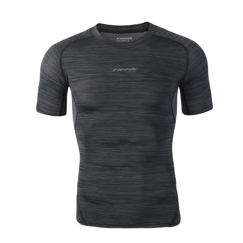 Men Sports Tight Shirt camiseta de secado rápido Camiseta de secado rápido Basketball Running Trainning Top Clothing