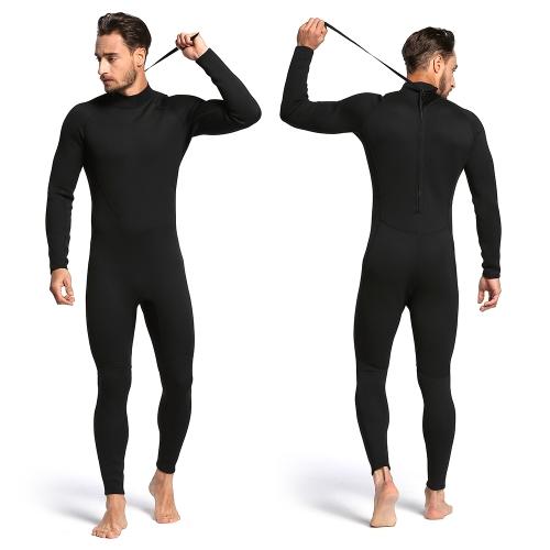 Мужская 2-миллиметровая задняя молния Полный гидрокостюм для тела Плавание Серфинг Дайвинг Плавательный костюм для подводного плавания