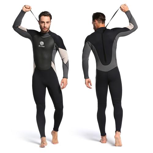 Homens de 3mm de Volta Zip Wetsuit de Corpo Inteiro de Natação Mergulho Mergulho Terno Jumpsuit