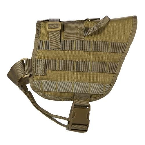 Lixada ao ar livre Molle Dog Vest ajustável colete salva-vidas cão de nylon com trava de segurança e alça destacável