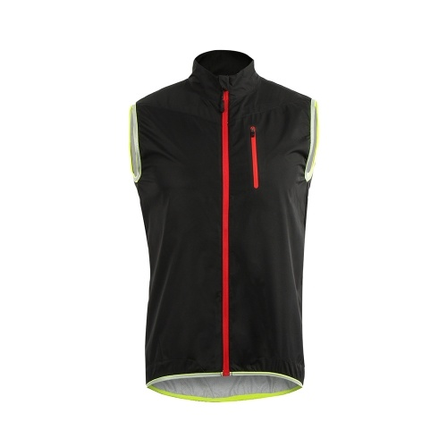 ARSUXEO Men's Sleeveless Cycling Jersey Full Zipper Breathable Running Tops