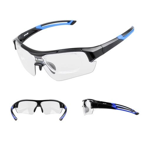 GUB Photochromic Occhiali da sole Protezione UV Sport all'aria aperta Occhiali MTB da bicicletta Occhiali con montatura in miopia