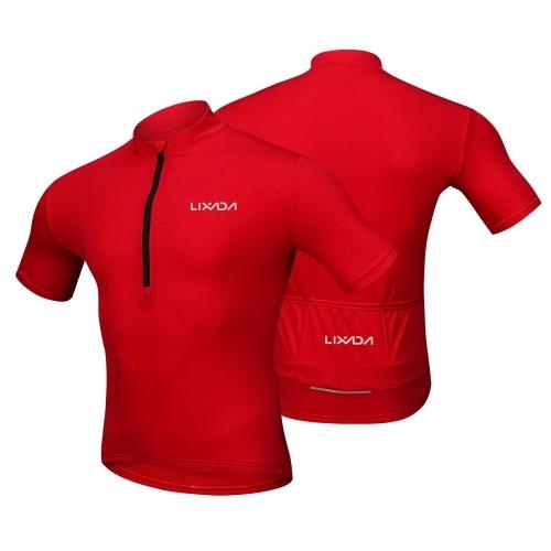 Lixada Men's Cycling Jersey Breathable Quick Dry Bike Biking Short Sleeve Shirt Image