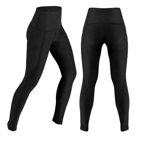 Pantaloni da yoga a vita alta da donna Allenamento di controllo della pancia Allenamento da corsa con gambali di yoga elasticizzato a 4 vie con tasca