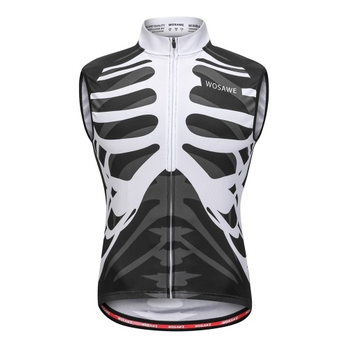 Wosawe Sleeveless Cycling Vest Jersey Breathable MTB Bike Riding Top Sports Jacket for Men and Women