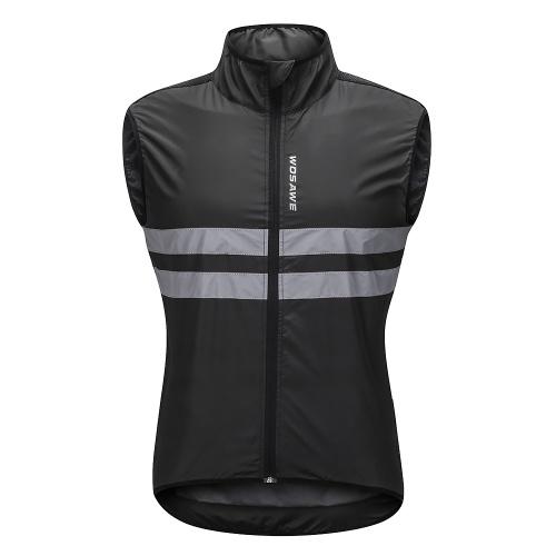 Wosawe ciclismo sin mangas Jersey a prueba de viento transpirable MTB Bike Riding Top chaqueta deportiva para hombres y mujeres