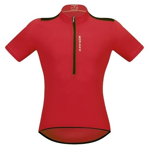 Herren Kurzarm Radtrikot Breathable Half Zipper MTB Reiten Biking Fahrrad Shirt Top