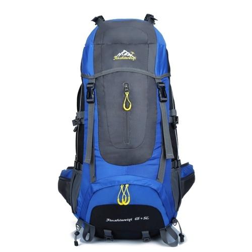 Hwjianfeng 65L + 5L Outdoor Trekking Travel Backpack