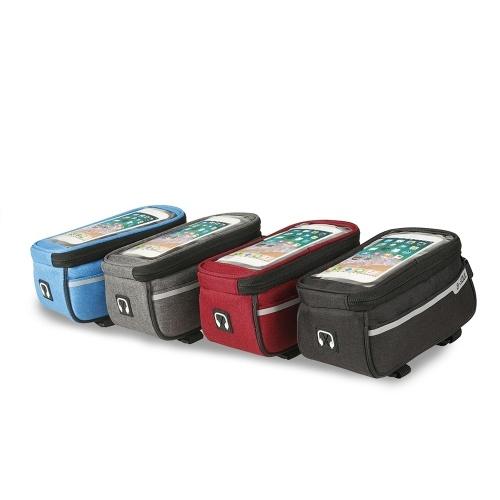 MTB Bicycle Top Tube Phone Bag для 6-дюймового размера велосипеда с футляром для наушников с отверстием для наушников фото