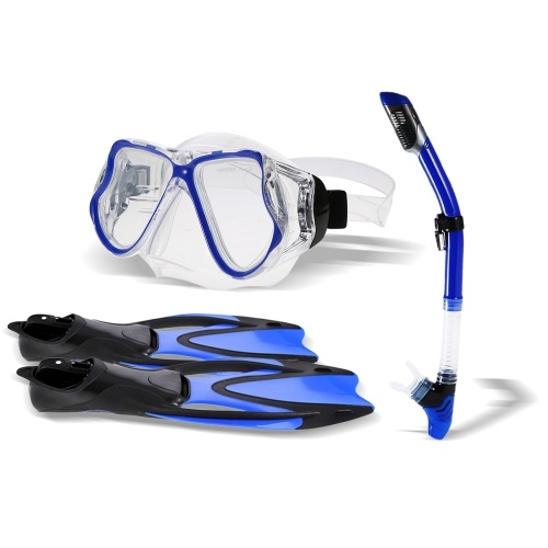 Snorkel Gear Set Snorkel Tube Fin Tempered Diving Mask para adultos