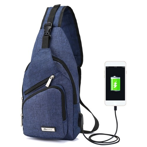 Portable Chest Bag with USB Port