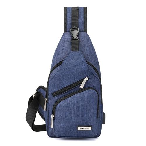 Saco de Peito portátil dos homens Fora de Lazer Viagens Ciclismo Multi-funcional Casais Pequenos Sacos com Porta USB