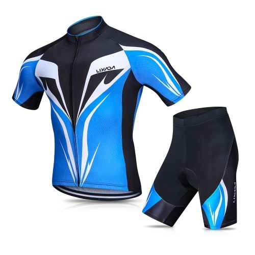 Lixada Men s Cycling Jersey Set Breathable Quick-Dry Short Sleeve Biking  Shirt with Gel Padded d4e2e9629