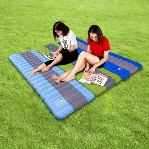 Надувная кровать для кемпинга Air Air Sleeping Pad со встроенным педальным насосом Надувная подушка для матраса Матрас для кемпинга Backpacking Hiking Traveling фото