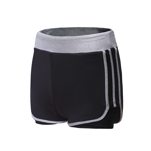 2-in-1 Running Yoga Shorts for Women Workout Fitness Stretch Sport Shorts