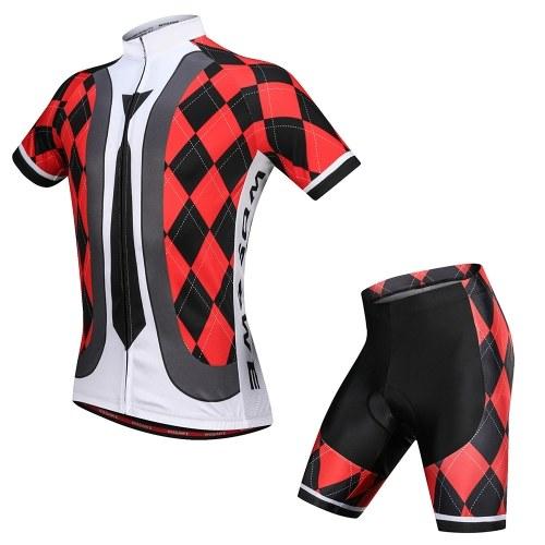 Men's Cycling Jersey Set Breathable Quick-Dry Short Sleeve Biking Shirt with Gel Padded Shorts MTB Bike Cycling Clothing Set Image