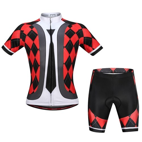 Men s Cycling Jersey Set Breathable Quick-Dry Short Sleeve Biking Shirt  with Gel Padded Shorts 6eba753d7