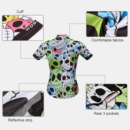 Men's Summer Cycling Jersey Breathable Short Sleeve Full Zip Bike Shirt