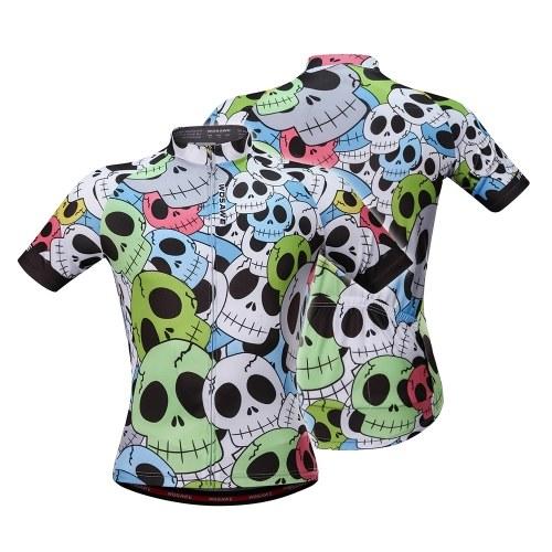 Letnia koszulka rowerowa z oddychającą koszulą z krótkim rękawem i zamkiem