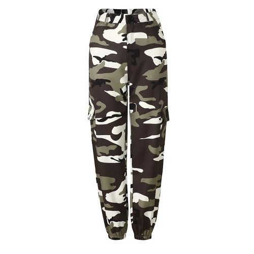 Women Camouflage Outdoor Casual Pants