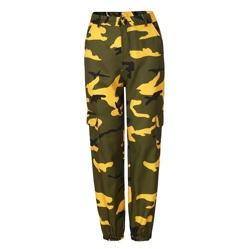 Pantalones casuales de camuflaje para mujer