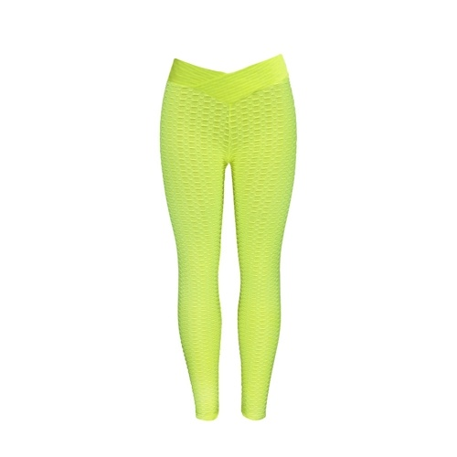Women Solid Color Stretch Seamless Yoga Pants