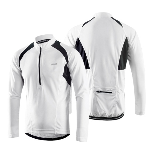 Arsuxeo Men's Long Sleeve Cycling Jersey Lightweight Breathable Quick Dry