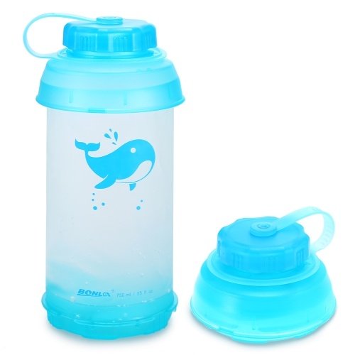 750ml Collapsible Water Bottle Lightweight Outdoor Sports Travel Bottle