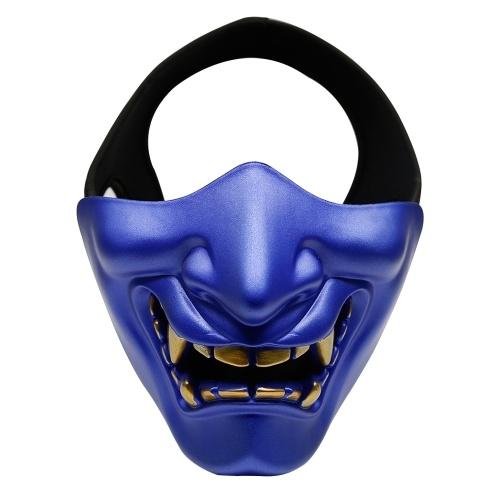 Halloween Ball Party Cosplay Evil Terror Pół twarzy Ghost Man Woman Mask Festival Prop