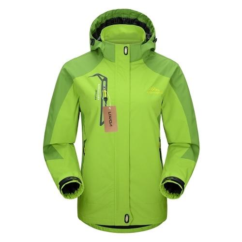 女性のためのLixada防水防風取り外し可能なフード付きジャケット