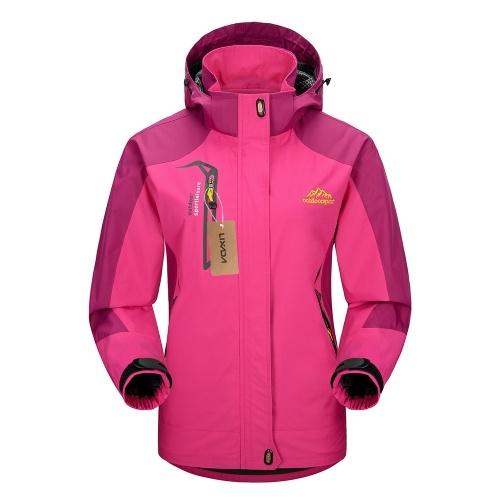 Lixada водонепроницаемая ветрозащитная съемная куртка с капюшоном для женщин фото