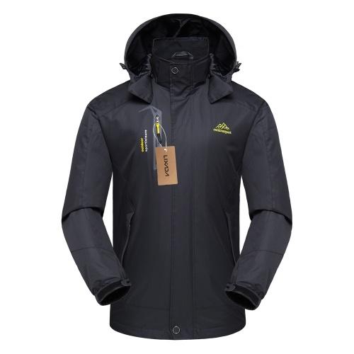 Lixada Waterproof Detachable Hooded Jacket for Men