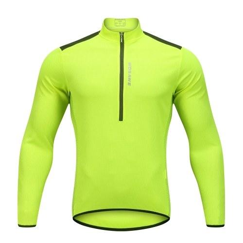 Wosawe Men's Cycling Jersey Spring Autumn Half-zip Image