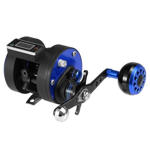 Carretel de pesca linha contador com display digital