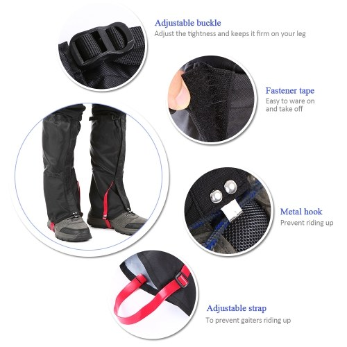 Lixada Outdoor Mountain Snow Leg Gaiters Windproof Waterproof Shoes Cover Dust-proof Leg Gaiter