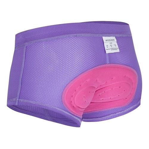 Women Cycling Underwear 3D Gel Padded Breathable Mesh MTB Bike Riding Biking Underwear Shorts Image