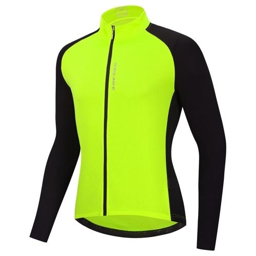 Men Cycling Jersey Breathable Full Zipper Long Sleeves MTB Bicycle Shirt Bike Riding Clothing Shirt Image