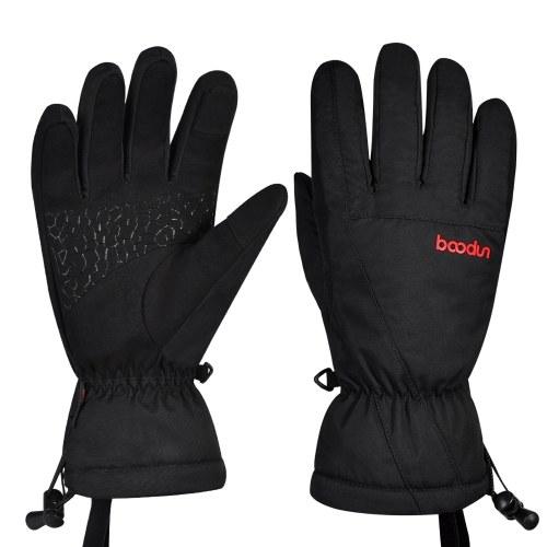 Luvas de neve para esqui de inverno feminino masculino resistente à água com tela sensível ao toque Luvas quentes para snowboard esqui equitação ciclismo caminhada