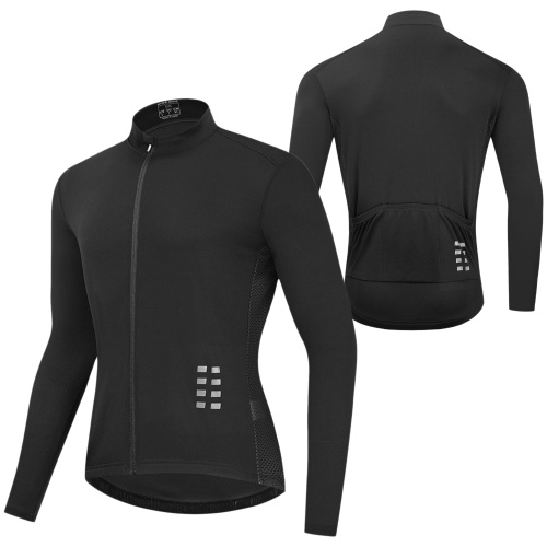 Men Long Sleeve Cycling Jersey Breathable MTB Bicycle Shirt Bike Riding Running Sports Jacket Clothing