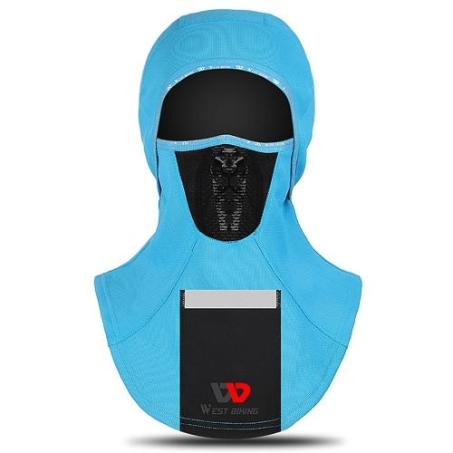 Breathable Windproof Face Cover with Pocket Men Women Reflective Face Mask Warm Outdoor Neck Sleeve Autumn Winter Neck Scarf Sport Mask Motorbike Cycling Head Cap  for Cycling Skiing Motorbiking Climbing Image