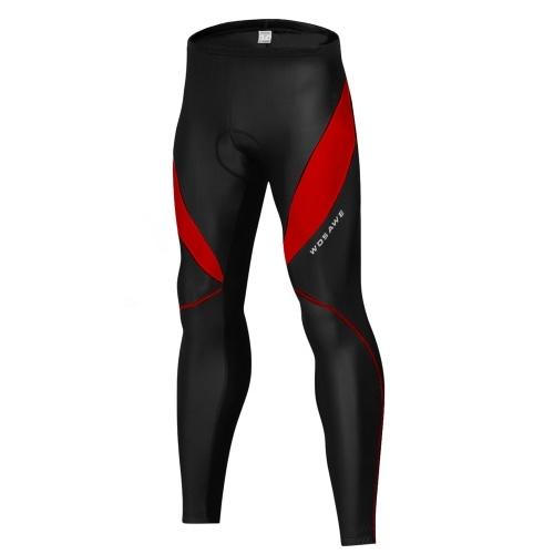 Мужские велосипедные штаны с подкладкой для шоссейного велосипеда с 3D-подкладкой, ветрозащитные термобелье для бега на велосипеде