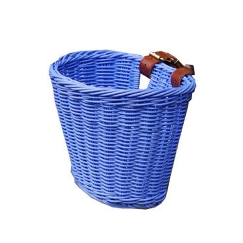 Cart Basket Rattan Children's Bike Basket Waterproof Shopping Basket Rattan Basket Bicycle Basket Scooter Basket