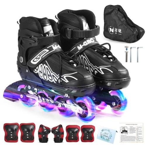 Adjustable Inline Skates with Illuminating Wheels Skates Outdoor Skates For Kids Boys Girls Ladies