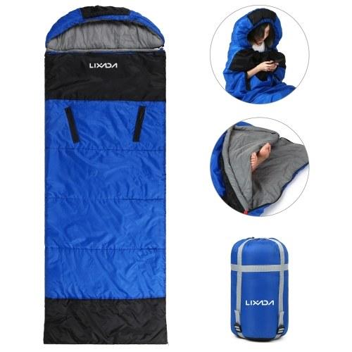 Sac de couchage enveloppe Lixada avec trous zippés pour bras et pieds Camping en plein air Randonnée Randonnée Voyage
