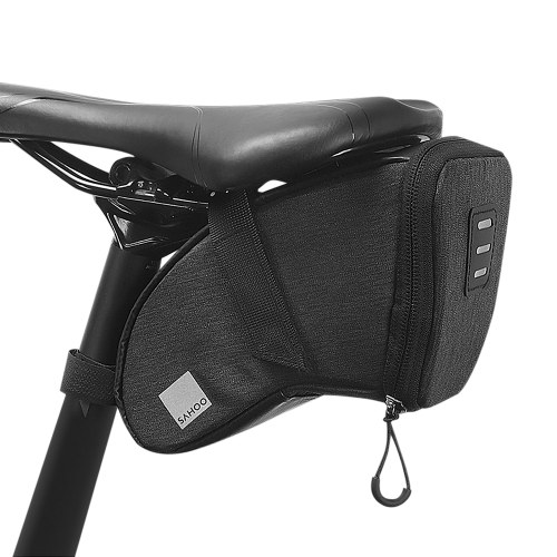 Bicycle Saddle Bag Waterproof Bike Seat Bag Reflective Cycling Rear Seat Post Bag Large Capacity Tail Rear Bag MTB Road Bike Bag Bicycle Storage Bag Image