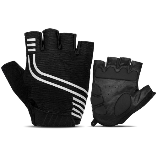 Men Mountain Bike Gloves Shock-absorbent Half Finger Biking Gloves Anti-slip Breathable Cycling Gloves for Men