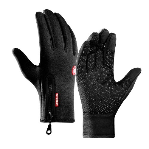 Cycling Gloves Touchscreen Waterproof Fleece Thermal Sports Gloves for Hiking Skiing