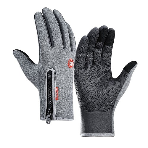 Cycling Gloves Touchscreen Waterproof Fleece Thermal Sports Gloves for Hiking Skiing Image