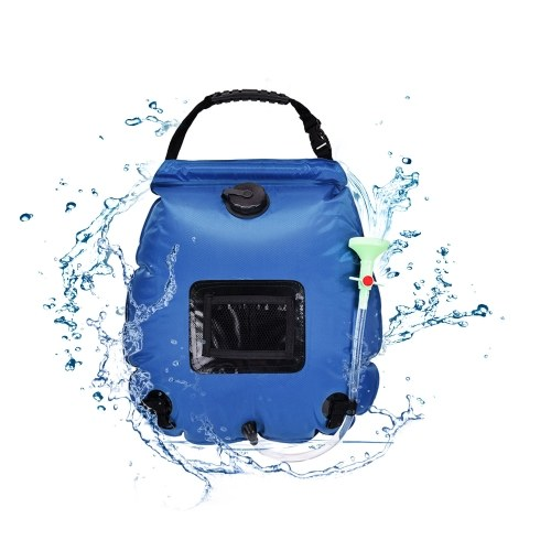 Solar Camping Shower Bag Solar Heated Travel Shower Bag Foldable Lightweight Portable Bag