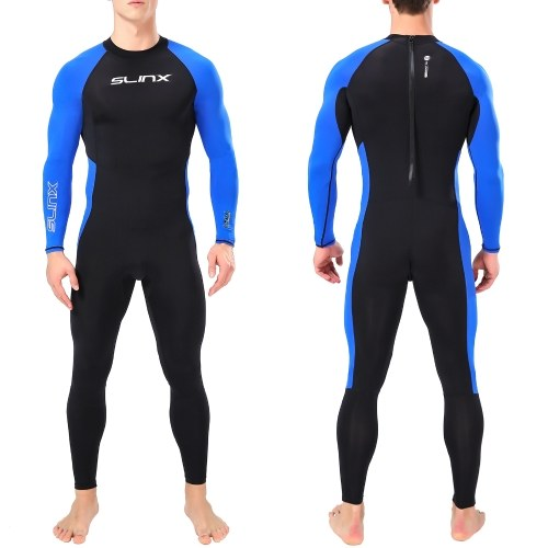 Quick Dry Diving Wetsuit UV Protection One Piece Long Sleeves Diving Suit Back Zipper Swimsuit for Water Sports